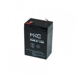 BATTERIE AL PIOMBO RICARICABILE 6V 4,5A TERMINALE FASTON 4.8MM MKC