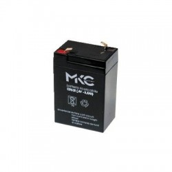 BATTERIA AL PIOMBO RICARICABILE 6V 3.2A SMALL TERMINALE FASTON 4.8MM MKC